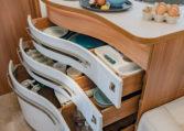 Camping Car 6 Places Fleurette Discover 75LMF Cuisine Tiroirs