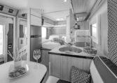 Camping Car Compact Fleurette Migrateur Blackpearl 64LDF Cuisine