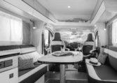 Camping Car Compact Fleurette Migrateur Blackpearl 64LDF Salon