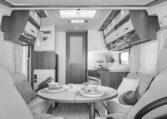 Camping Car Familial Florium Wincester 74LJG Salon Cuisine