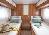 Camping Car lit jumeaux salle de bain arrière - Fleurette Magister 73LJF Chambre