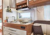 Camping Car lit jumeaux salle de bain arrière -Fleurette Magister 73LJF Cuisine
