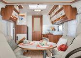Camping Car Integral Lit Jumeaux Fleurette Discover 74LJG Salon