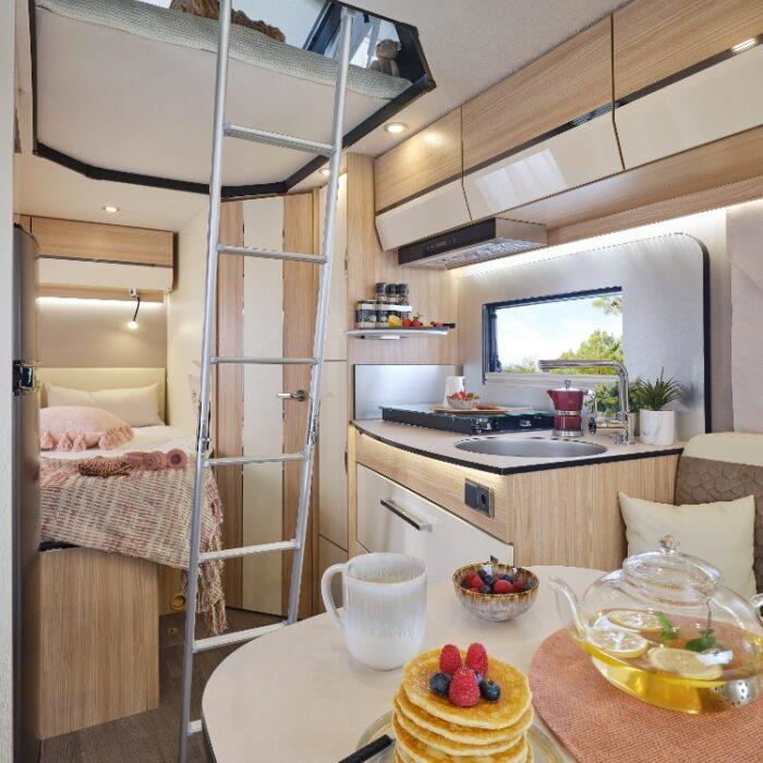 Camping Car Profile Florium Baxter 64ldf Option Pop Toit Relevable Cuisine